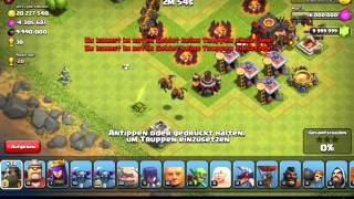 Clash of Clans Lavahund King in Action!