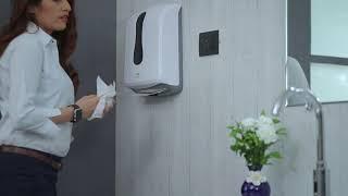 Multifold Paper Towel Dispenser Jumbo - White video