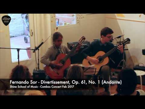 Fernando Sor - Divertissement, Op.61, No.1 (Andante)  - Guitar Duo / Duet