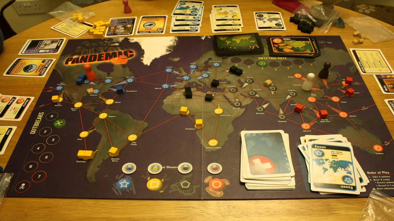 pandemic board game time lapse youtube