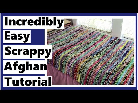 Incredibly Easy Scrappy Afghan Tutorial – Learn How to Crochet with Darlene