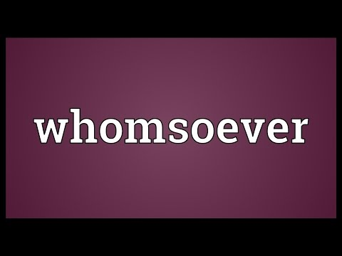 Header of whomsoever