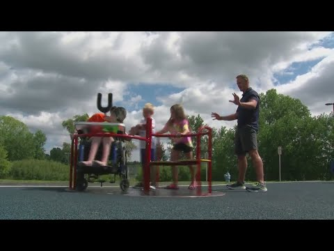 Inclusive playground opens at Bay Harbor Elementary School in Suamico