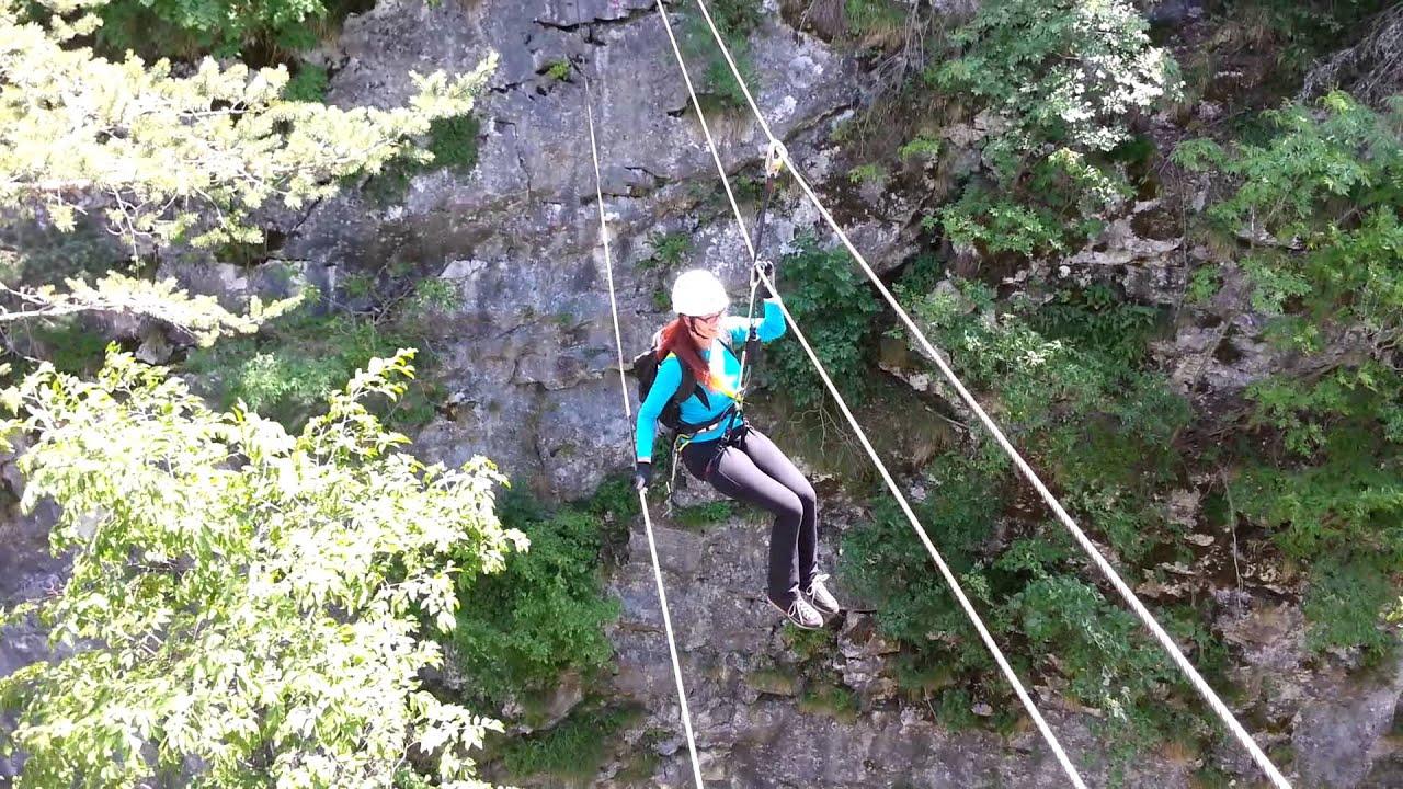 Klettersteig Villach : Klettersteig verena auf der seilbrücke alpinteam villach youtube
