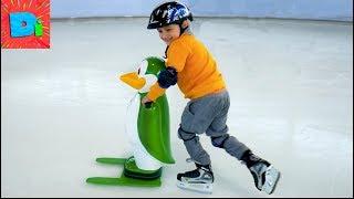Как Научиться Кататься На Коньках? Веселый ЛёД Funny Video For Kids On Didika Tv