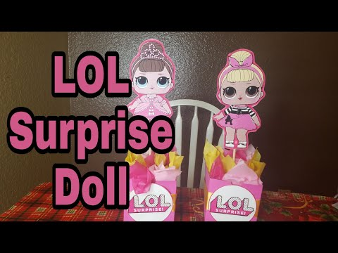 DIY LOL surprise doll centerpieces