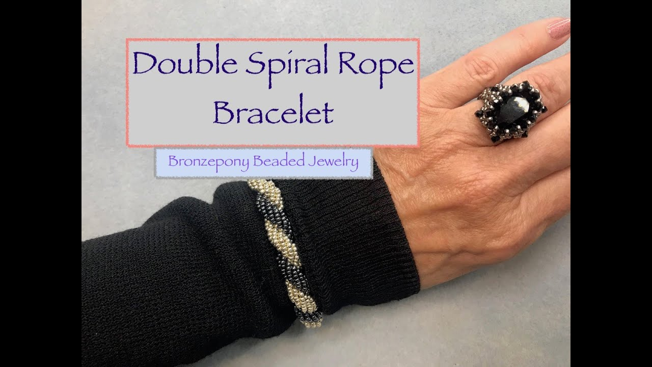 Double Spiral Bracelet in Jewelers Brass and Anodized Aluminum