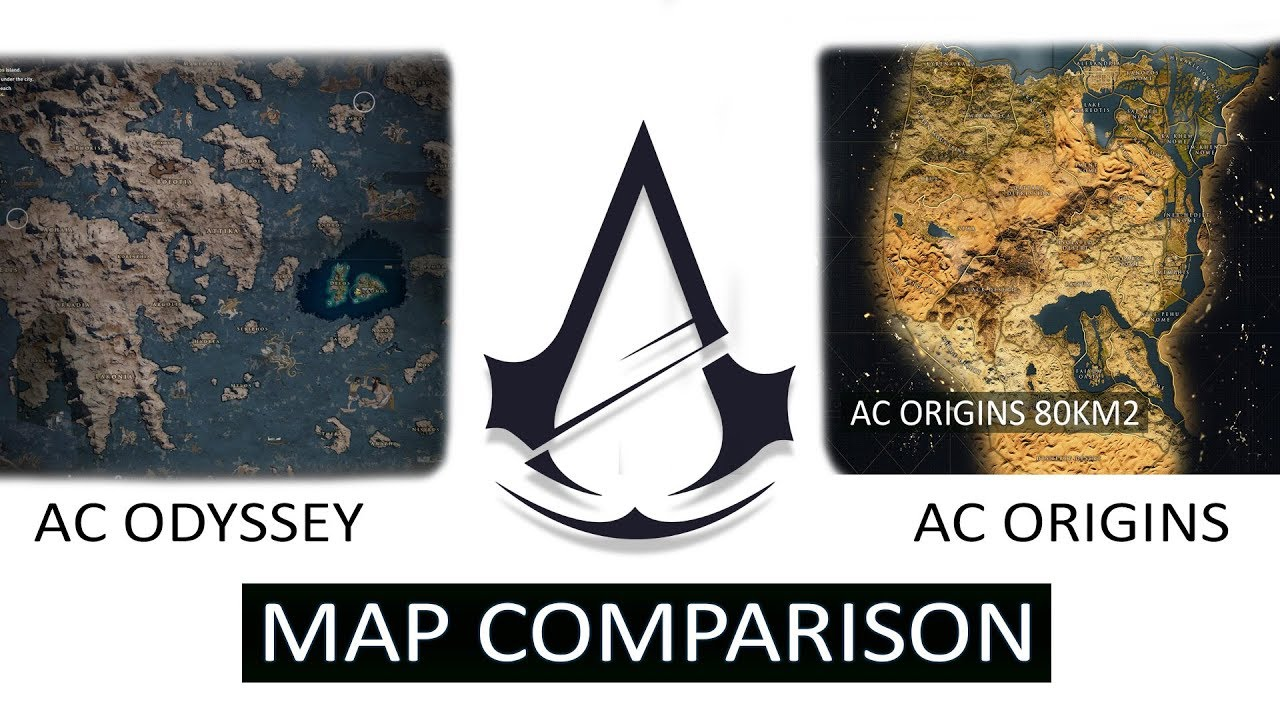 assassins creed black flag map size comparison