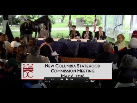 New Columbia Statehood Commission Draft Constitution, 5/6/16
