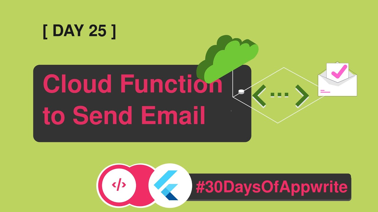 2️⃣4️⃣ #30DaysofAppwrite : Cloud Function to Send Email