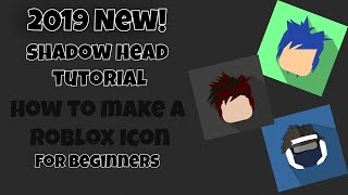 *2019* How to make a ROBLOX Cartoon Profile Picture Icon For Youtube (SHADOWHEAD) - For Beginners!
