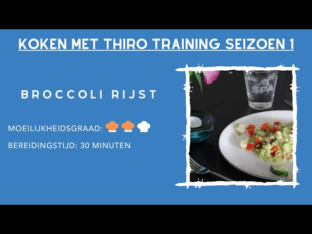 Kook Video #8 Broccoli rijst