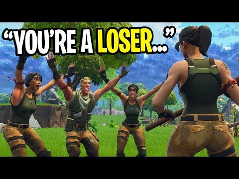 SQUAD OF 10 YEAR OLD KIDS BULLY ME ON FORTNITE! (Then I CARRIED Them...)