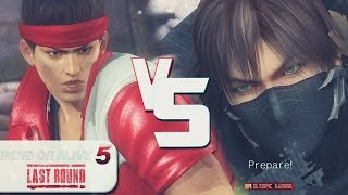xA2RAELo (Jann Lee) Vs MolarChutoy3 (Hayabusa) [Dead Or Alive 5 Last Round PS4 Gameplay]