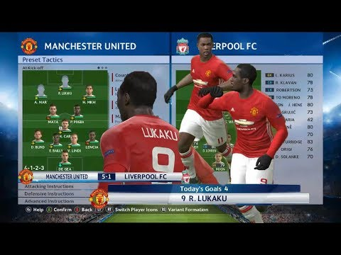 the strongest manchester united formation in PES 2018