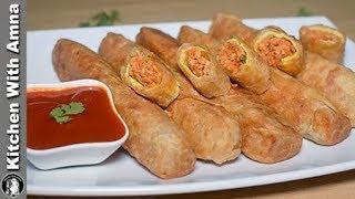 Tawa Chicken Roll Recipe (Street Food Style) - Chicken Paratha Roll - Kitchen With Amna