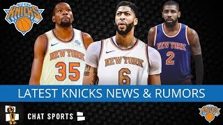 Knicks Rumors: Kyrie Irving, Kevin Durant Updates, Anthony Davis Trade, RJ Barrett vs Jarrett Culver