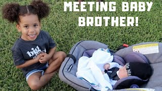 Lillian Meets Baby Brother For The First Time! (CUTEST REACTION)