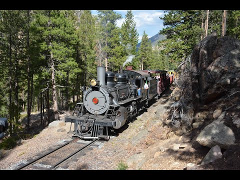 Georgetown loop #40 travels through the mountains of Colorado October, 2020