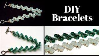 Beaded bracelets. Jewelry making tutorial. Easy beading