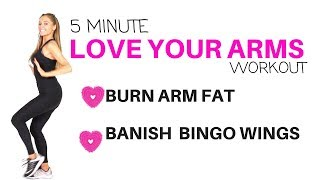 AT HOME ARM WORKOUT - GET RID OF FLABBY ARMS- BACK FAT - BURN OFF ARM FAT AND GET RID OF BINGO WINGS