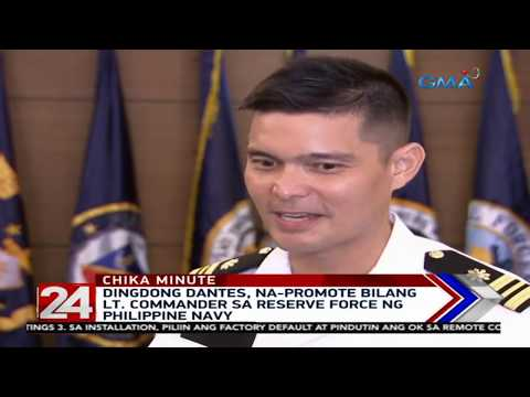 24 Oras: Dingdong Dantes, na-promote bilang Lt. Commander sa Reserve Force ng Philippine Navy - 동영상