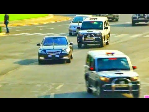 President of India Car Convoy - Ram Nath Kovind *Mercedes Be
