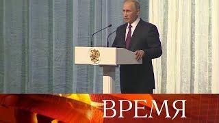 Президент РФ: Внедрение новейших технологий - одна из важных задач в сфере производства вооружений.