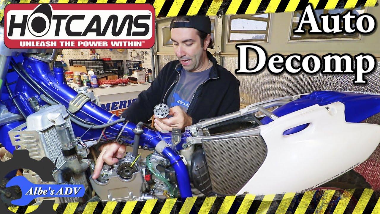 Yamaha YZ Hotcams cam shaft with auto decompression install