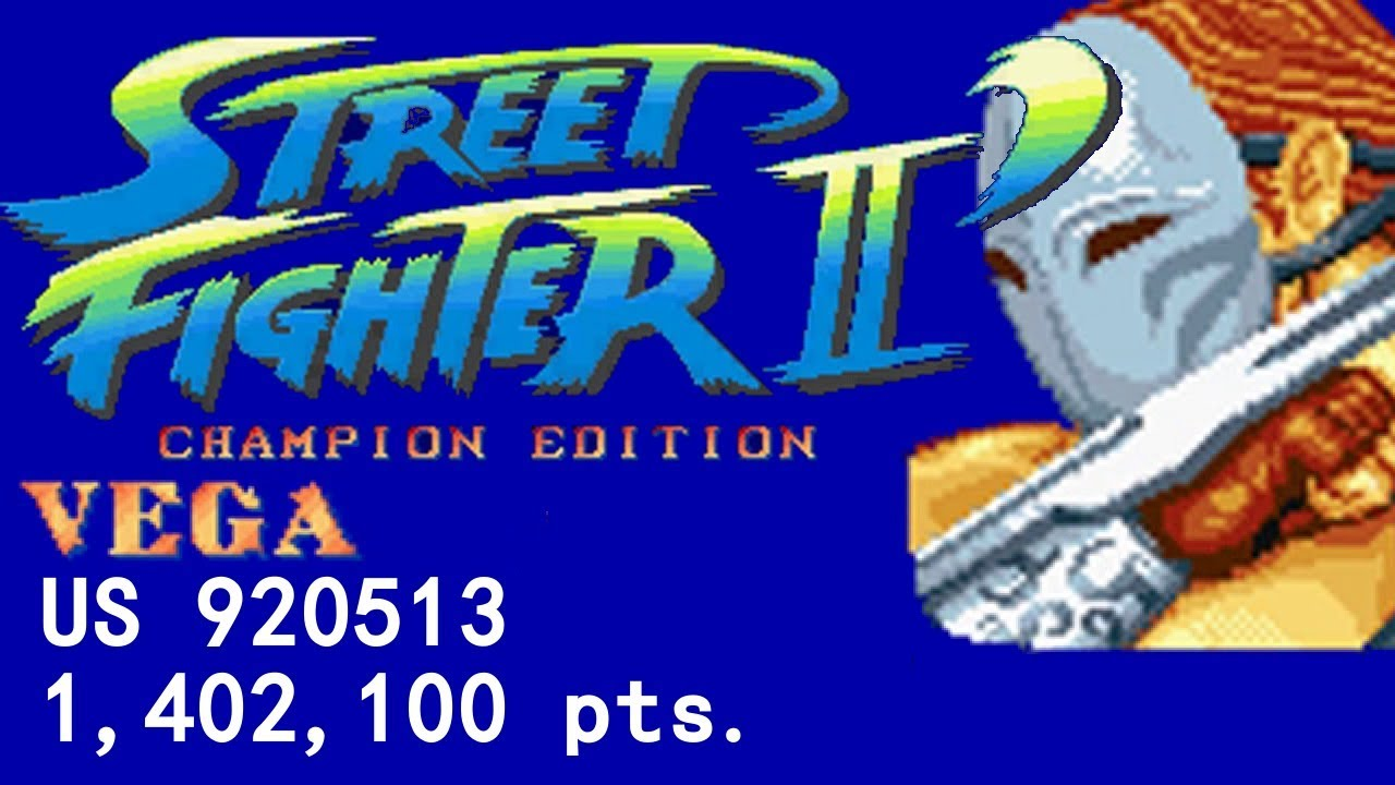 Arcade Street Fighter 2 Champion Edition Us 920513 1992 Vega