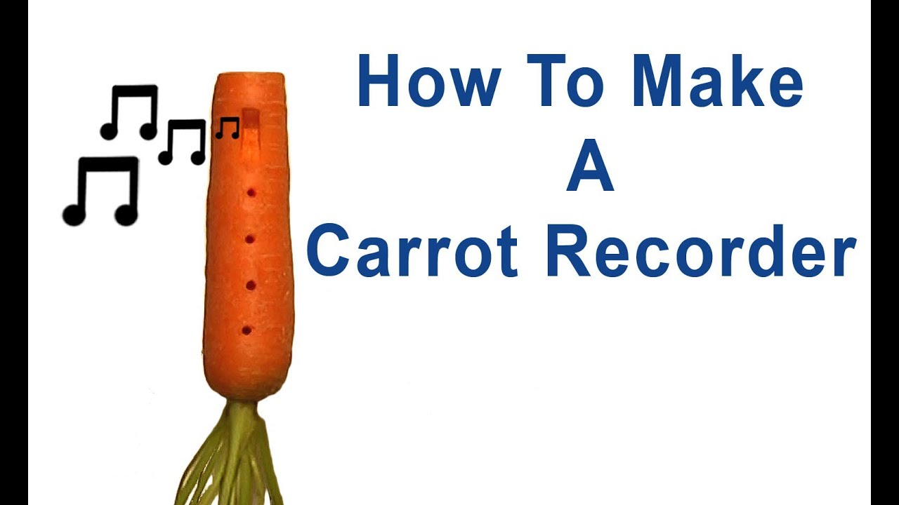 how to make a carrot recorder ocarina youtube