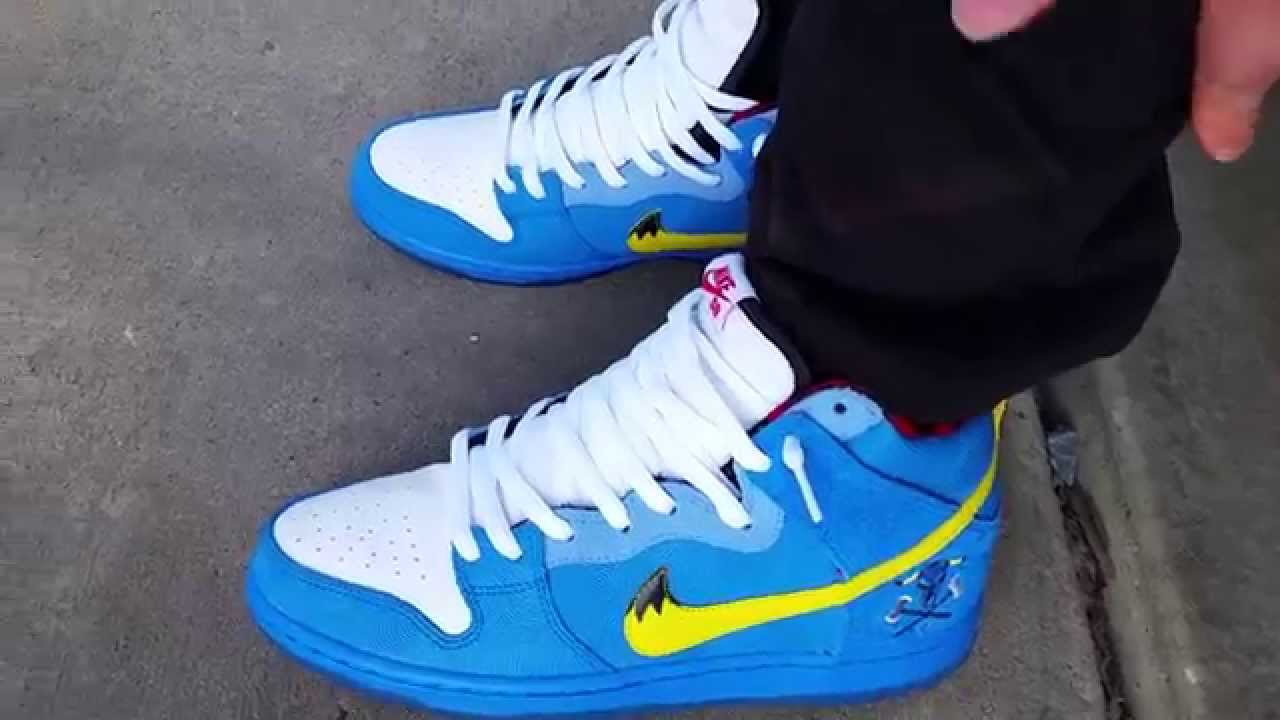 NIKE SB DUNK HIGH PREMIUM PAUL BUNYAN BLUE OX FAMILIA PHOTO BLUE/WHITE/TOUR  YELLOW ON FEET REVIEW