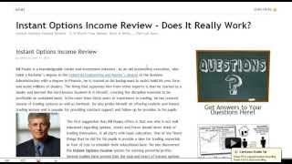 Instant Options Income Review Examines Bill Poulos Options Trading Program