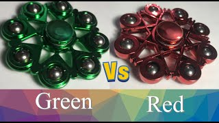 Fidget Spinner Battles, Green vs Red (Part 9 or 13)