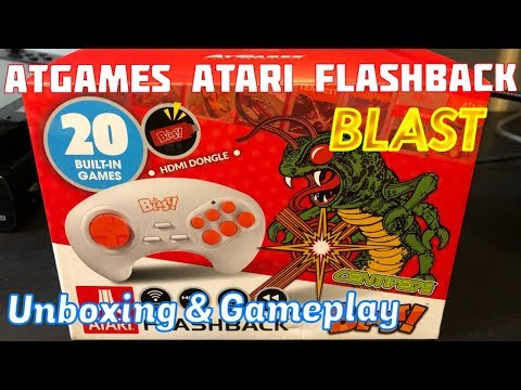 AtGames Atari Flashback BLAST, Unboxing, Gameplay & Review - Emceemur