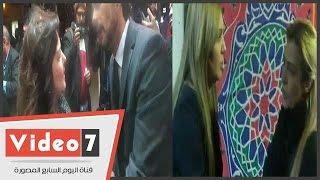 بالفيديو.. دلال عبد العزيز وياسمين الخيام وسيمون فى عزاء الفنانة فيروز