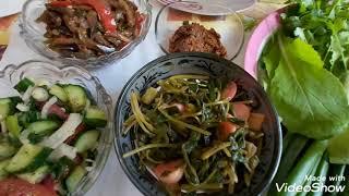 Свежая зелень с огорода.СЯМИ.Все витамины на нашем столе.