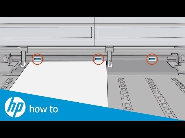 Jak zainstalować krawędziowe uchwyty materiału w drukarkach HP Latex oraz HP Latex R Series