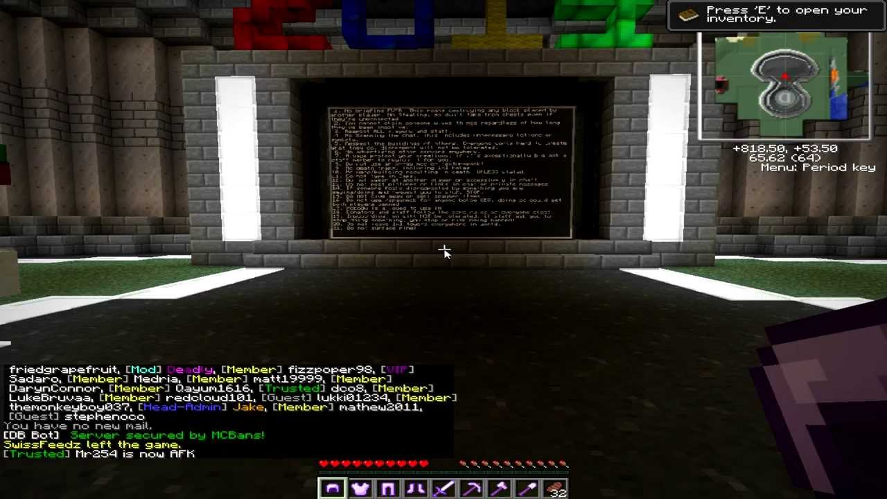 how to get unbanned from a minecraft server