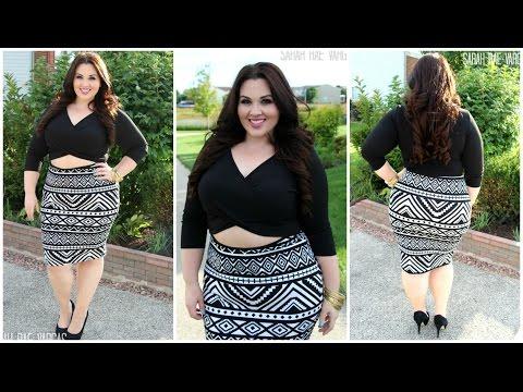 Plus Size Fashion | Tribal Peekaboo Dress. Http://Bit.Ly/2KBtGmj