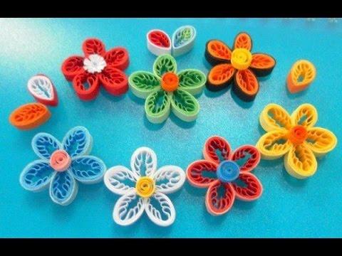 [Tranh Quilling] #5 - Hướng Dẫn dùng lượt cuộn giấy quilling làm hoa