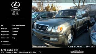 2000 Lexus LX 470 4dr SUV   Rite Cars, Inc, Lindenhurst, NY - SOLD