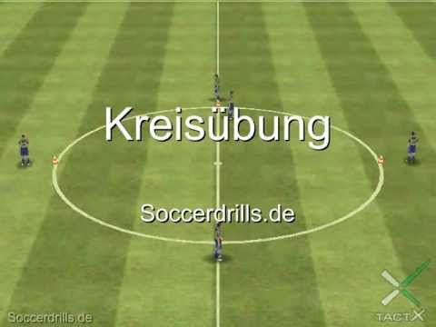 Kreisubung Endlos Passtraining Auf Hohem Niveau Fussballtraining Auf Soccerdrills De