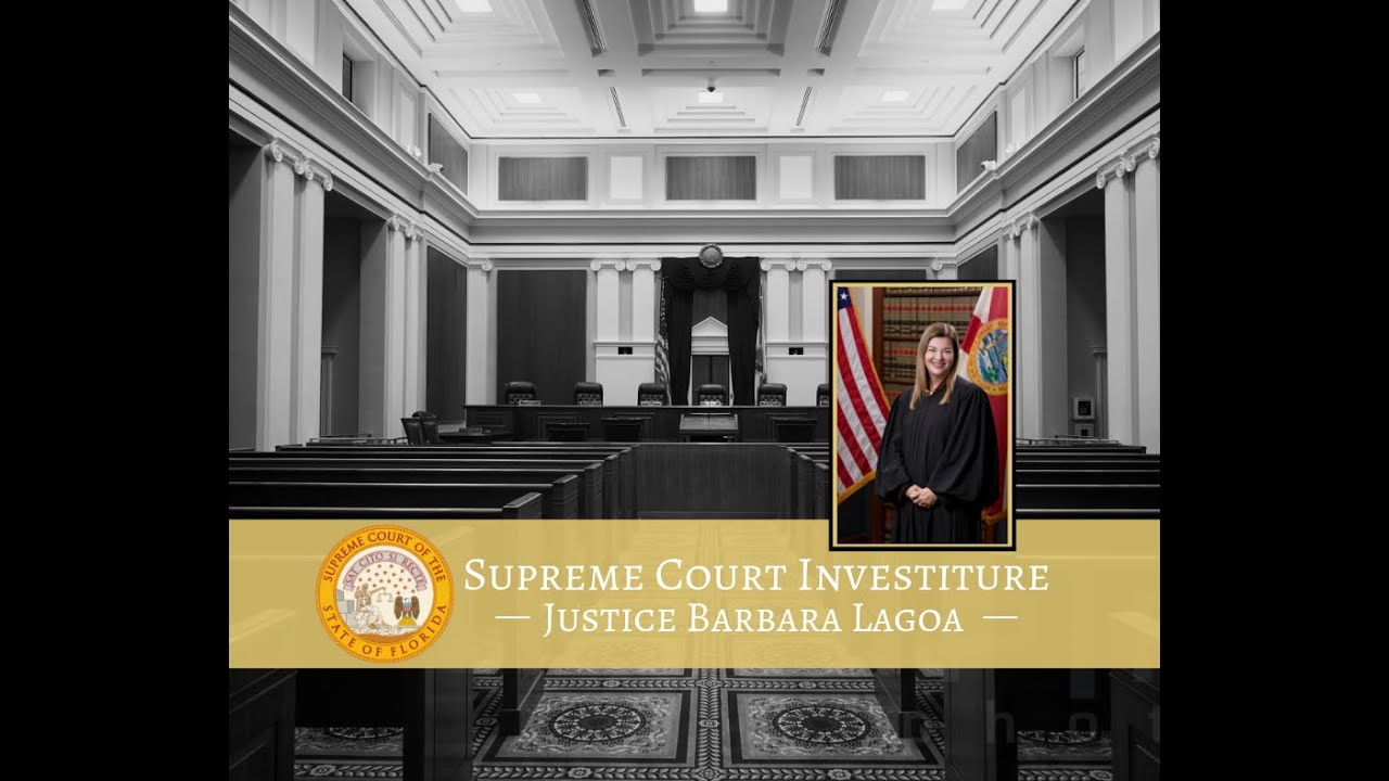May 10 2019 Investiture Of Justice Barbara Lagoa Youtube