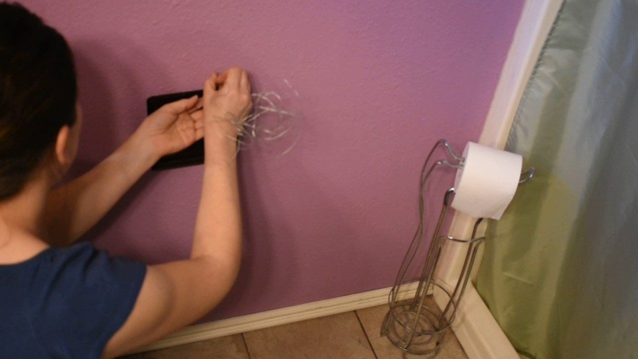 diy installing a recessed toilet paper holder with backplate youtube. Black Bedroom Furniture Sets. Home Design Ideas