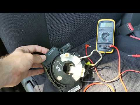How to diagnose a faulty air bag clock spring