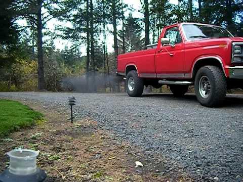 1985 Ford 6.9 Turbo Black smoke