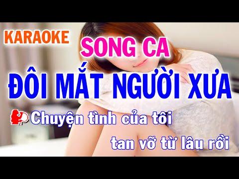 Karaoke Đôi Mắt Người Xưa Song Ca Nhạc Sống l Nhật Nguyễn