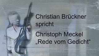 "Christoph Meckel – ""Rede vom Gedicht"""