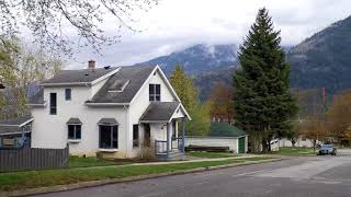 Driving in NELSON, British Columbia, Canada. City Tour. West Kootenays BC. Quaint Town